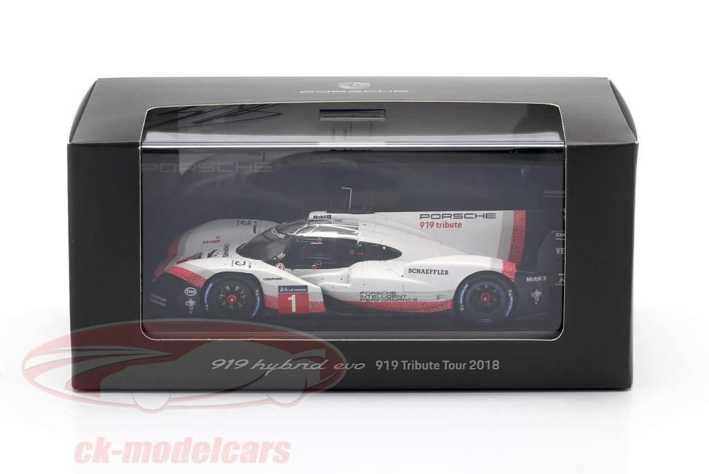 Porsche 919 Hybrid Evo #1 919 Tribute Tour 2018 Signature Edition 1:43 Spark