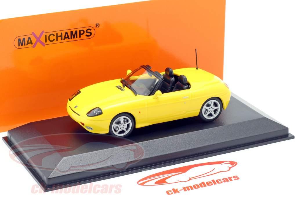 Fiat Barchetta Baujahr 1995 gelb 1:43 Minichamps