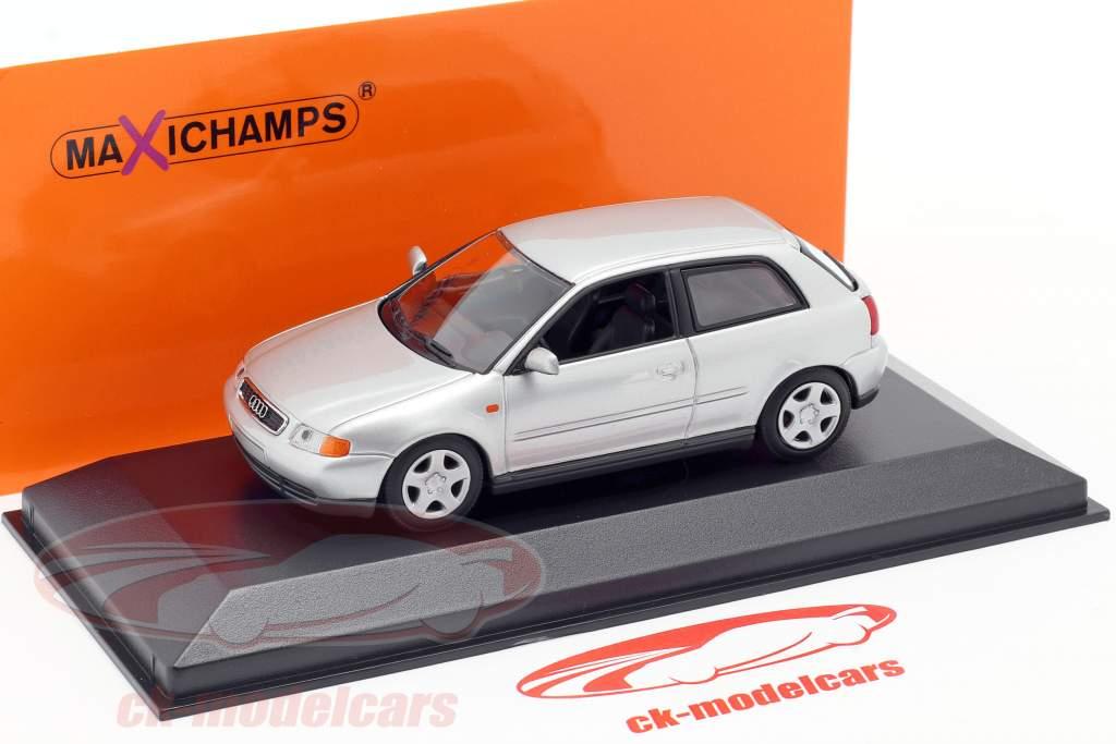 Audi A3 (8L) Anno di costruzione 1996 argento 1:43 Minichamps