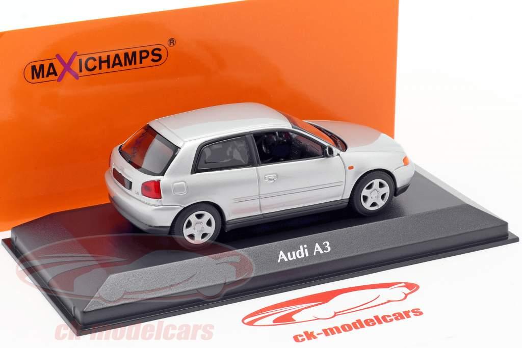 Audi A3 (8L) year 1996 silver 1:43 Minichamps