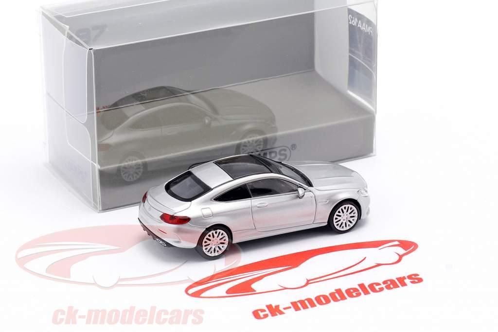 Mercedes-Benz AMG C63 Coupe Anno di costruzione 2019 argento iridium metallico 1:87 Minichamps