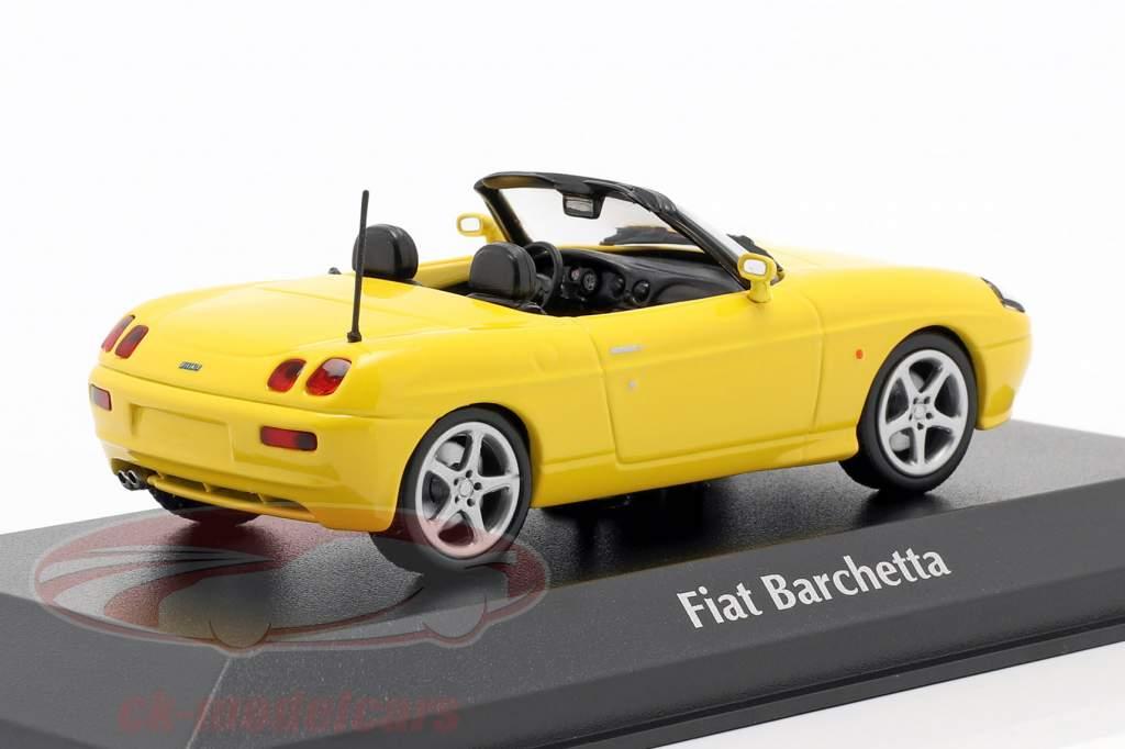 Fiat Barchetta year 1995 yellow 1:43 Minichamps