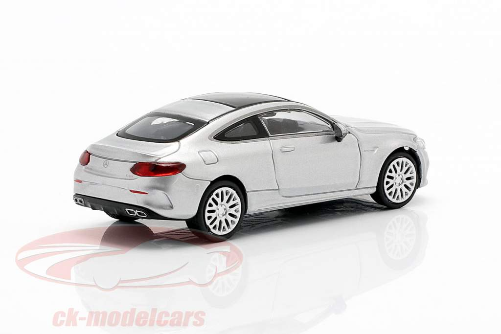 Mercedes-Benz AMG C63 Coupe Baujahr 2019 iridiumsilber metallic 1:87 Minichamps