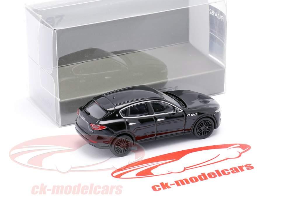 Maserati Levante Bouwjaar 2018 zwart 1:87 Minichamps