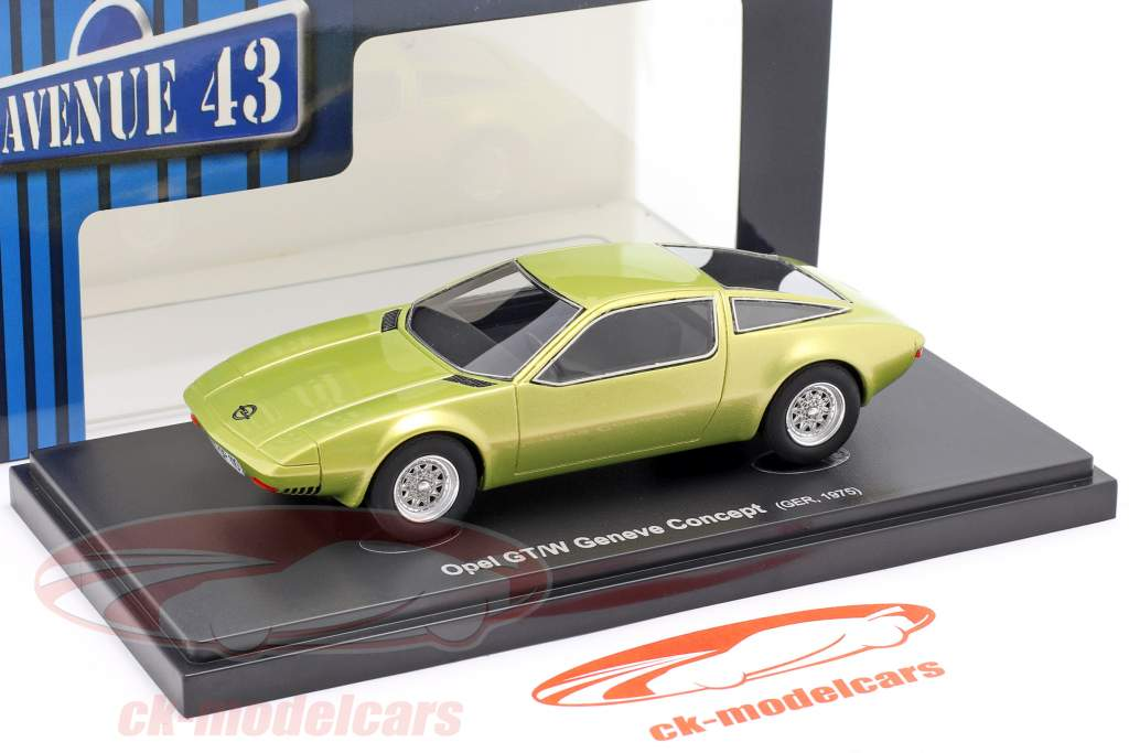 Opel GT/W Geneve Concept Car 1975 gul metallisk 1:43 AutoCult