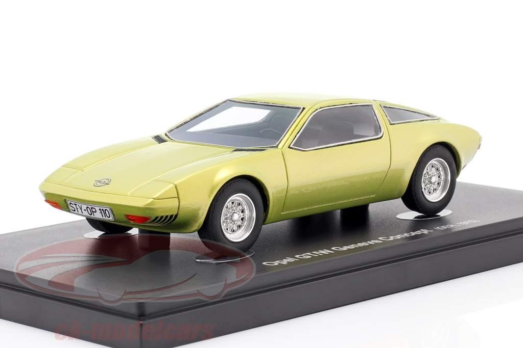 Opel GT/W Geneve Concept Car 1975 geel metalen 1:43 AutoCult