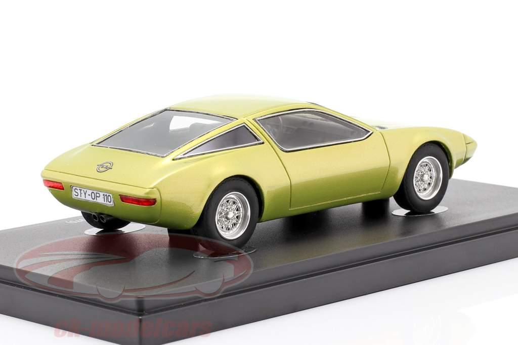 Opel GT/W Geneve Concept Car 1975 Jaune métallique 1:43 AutoCult