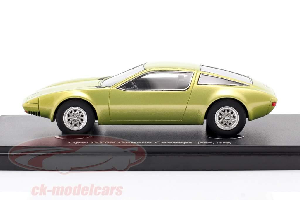Opel GT/W Geneve Concept Car 1975 amarelo metálico 1:43 AutoCult