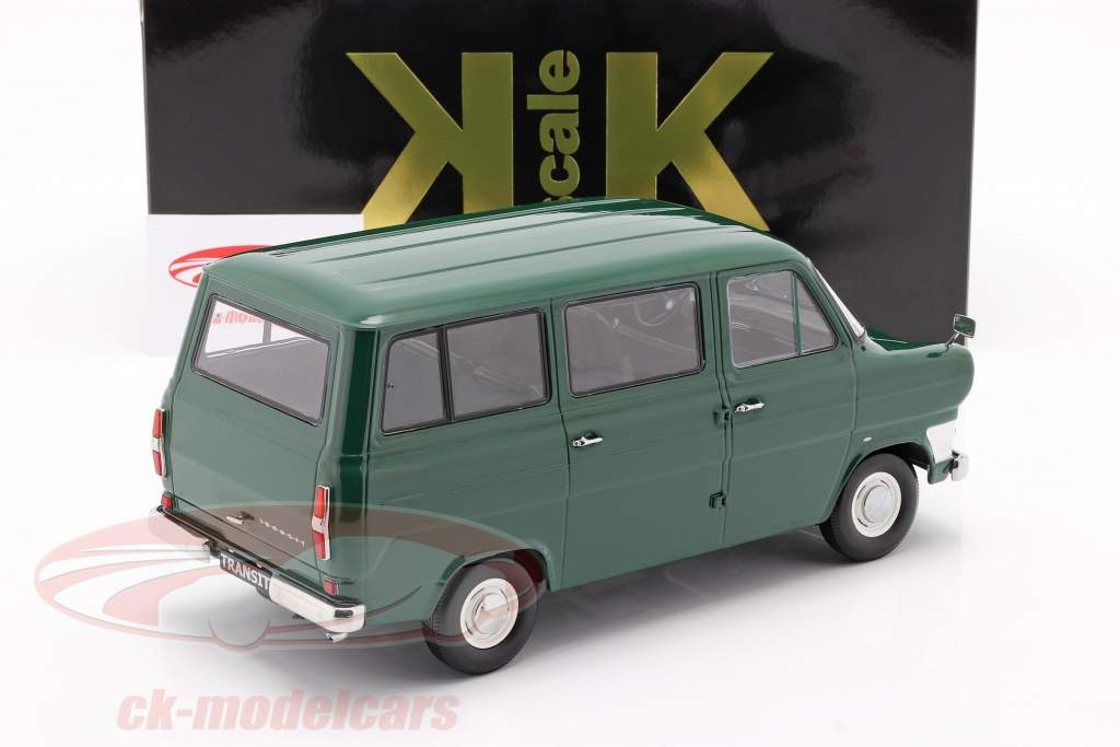 Ford Transit MK1 ônibus ano 1965 Sombrio verde 1:18 KK-Scale