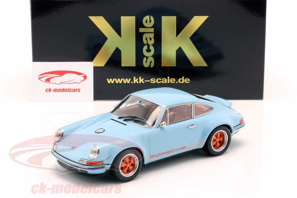 Singer Coupe Porsche 911 Modificação golfo azul / laranja 1:18 KK-Scale