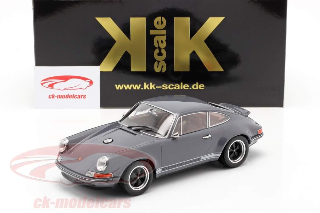 Singer Coupe Porsche 911 Modifica grigio scuro 1:18 KK-Scale
