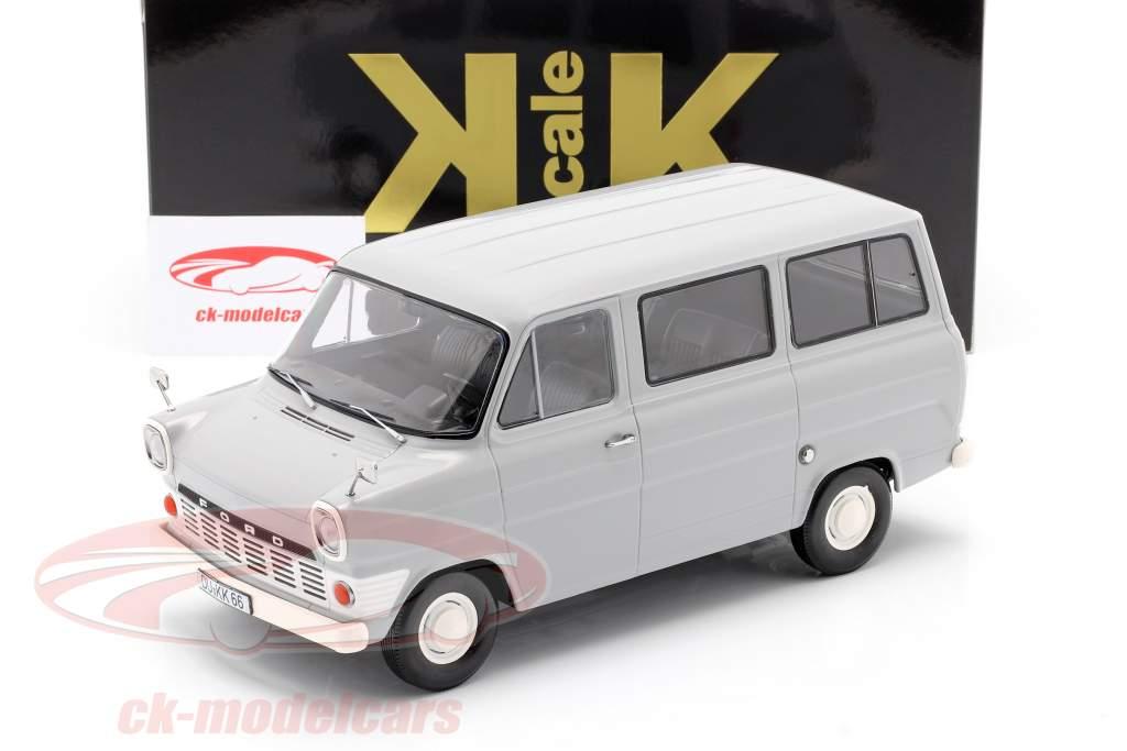 Ford Transit MK1 autobús año 1965 gris 1:18 KK-Scale