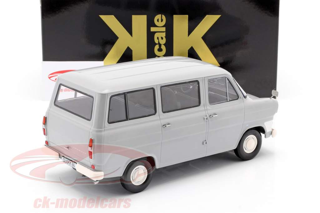 Ford Transit MK1 bus jaar 1965 grijs 1:18 KK-Scale