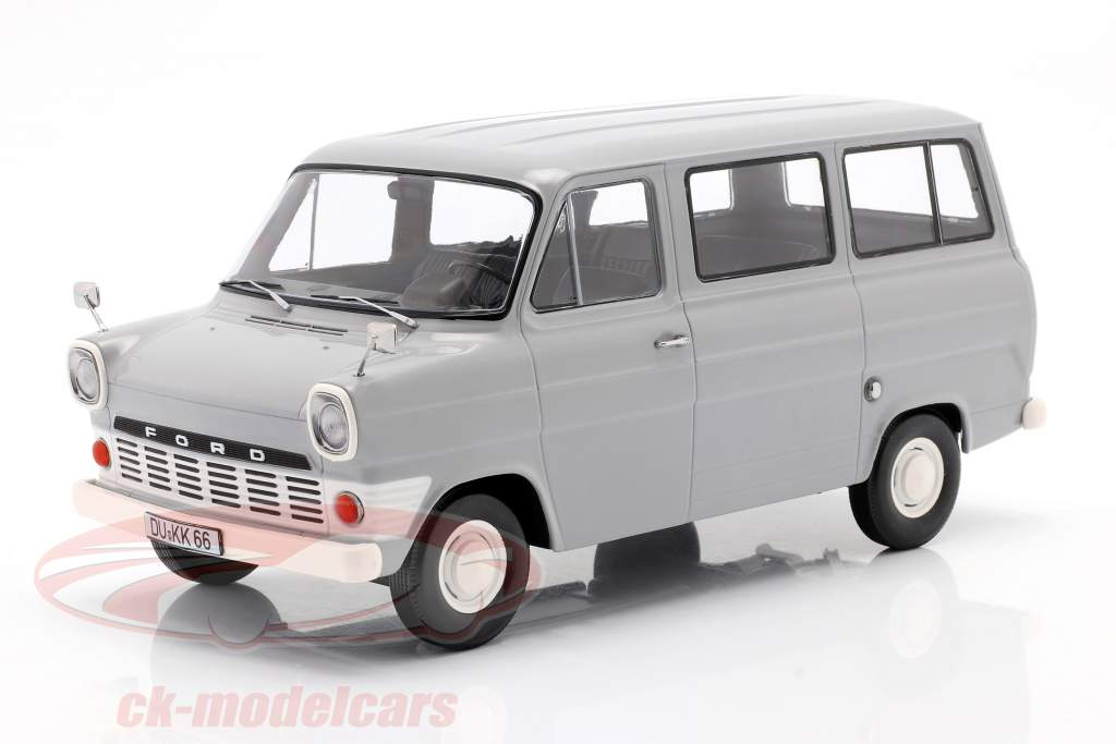 Ford Transit MK1 autobus anno 1965 grigio 1:18 KK-Scale