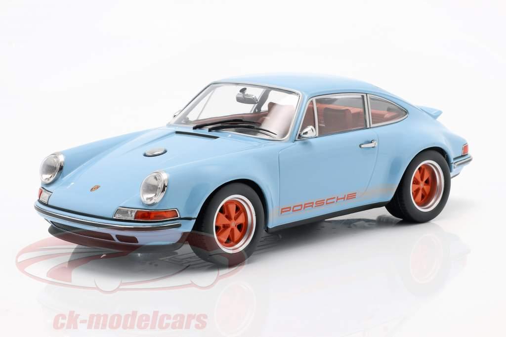 Singer Coupe Porsche 911 Modification gulf blau / orange 1:18 KK-Scale