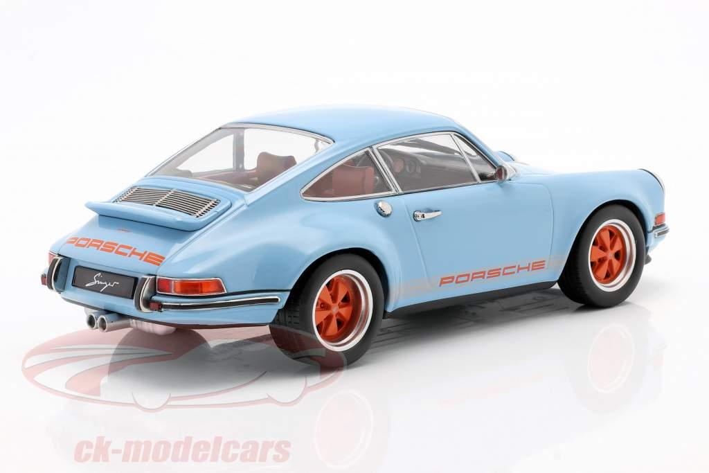 Singer Coupe Porsche 911 Modifikation afgrund blå / orange 1:18 KK-Scale