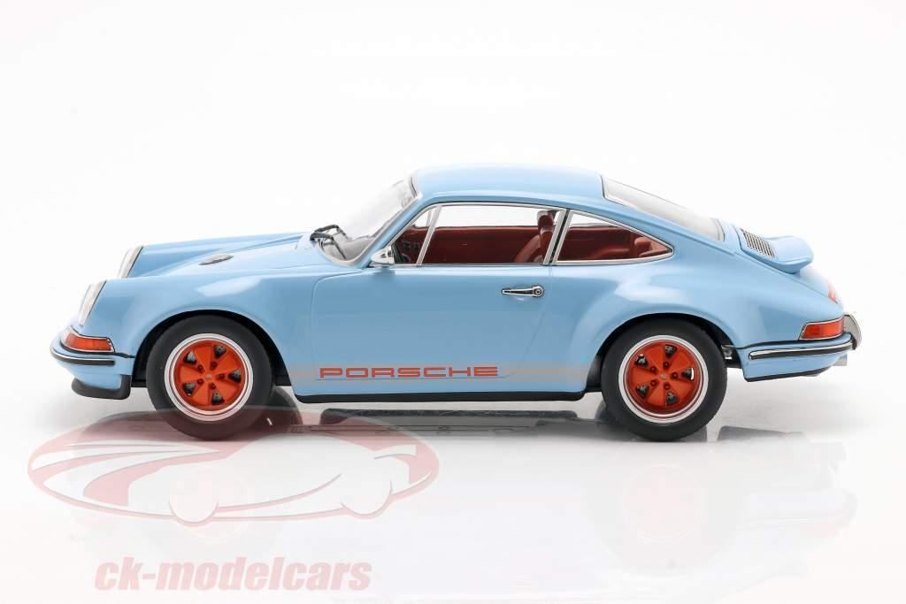 Singer Coupe Porsche 911 Modificación Golfo azul / naranja 1:18 KK-Scale