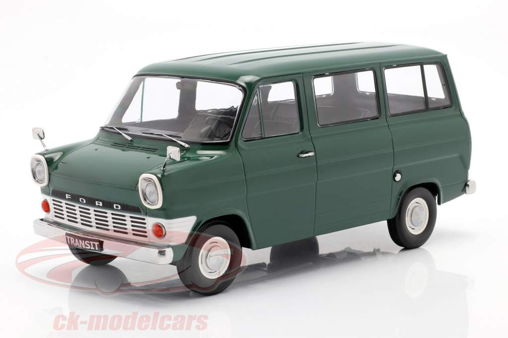 Ford Transit MK1 bus jaar 1965 donker groen 1:18 KK-Scale