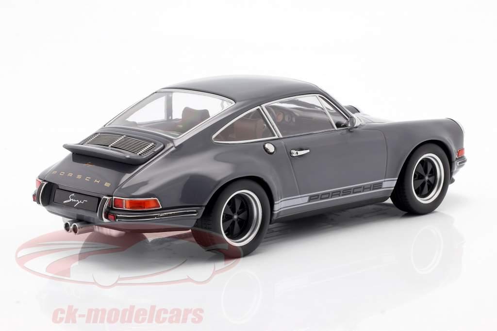 Singer Coupe Porsche 911 Modifikation mørkegrå 1:18 KK-Scale