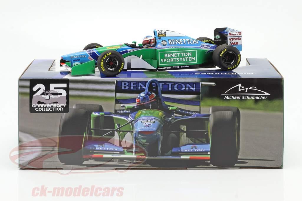 M. Schumacher Benetton B194 #5 gagnant Canada F1 Champion du monde 1994 1:18 Minichamps