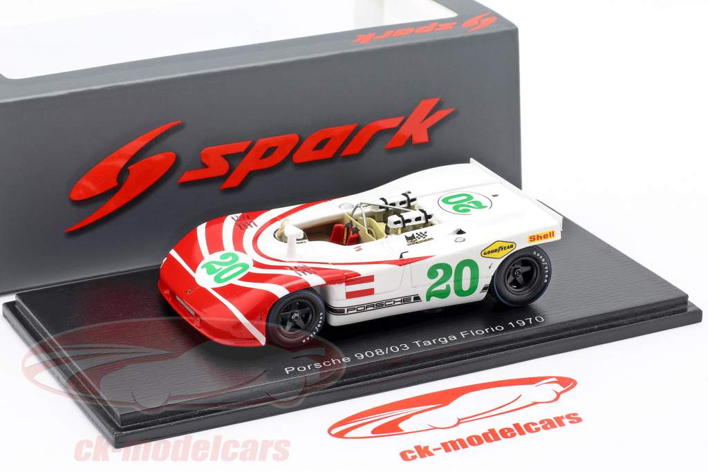 Porsche 908/03 #20 Targa Florio 1970 Elford, Herrmann 1:43 Spark