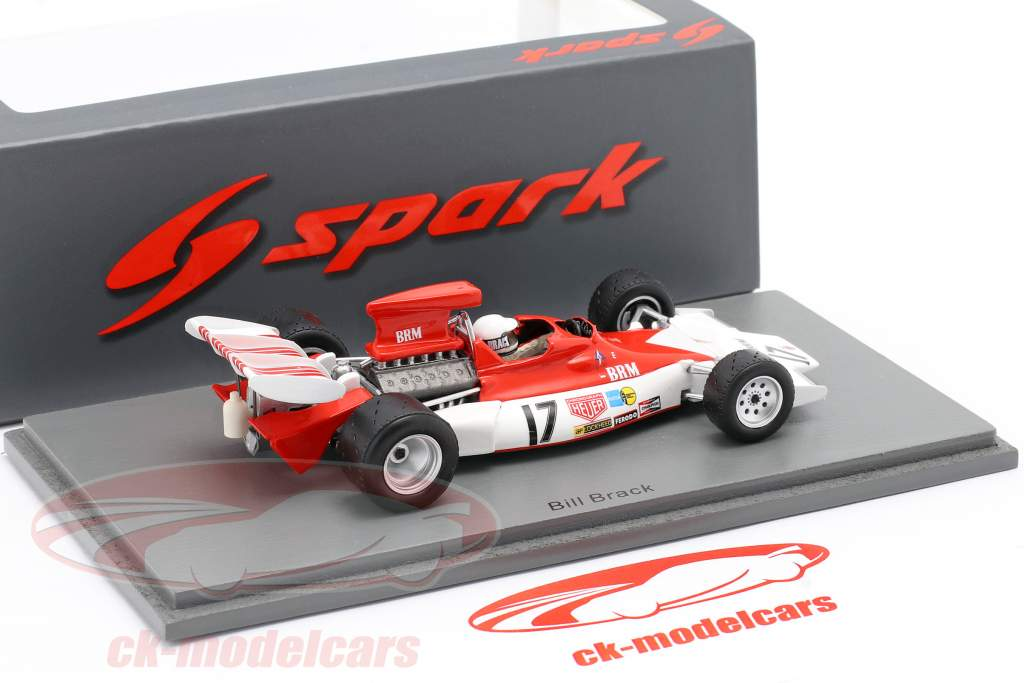 Bill Brack BRM P180 #17 Canadees GP formule 1 1972 1:43 Spark