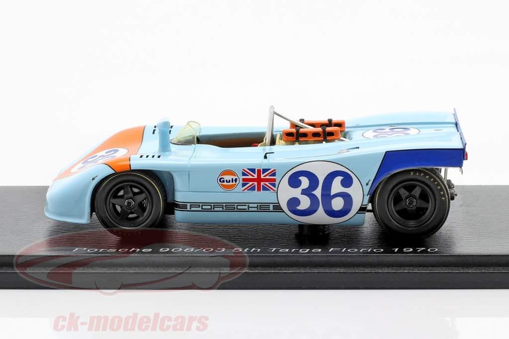 Porsche 908/03 #36 5th Targa Florio 1970 Waldegaard, Attwood 1:43 Spark