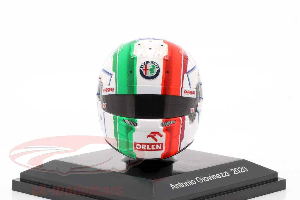 Antonio Giovinazzi #99 Alfa Romeo Racing Orlen formula 1 2020 helmet 1:8 Spark
