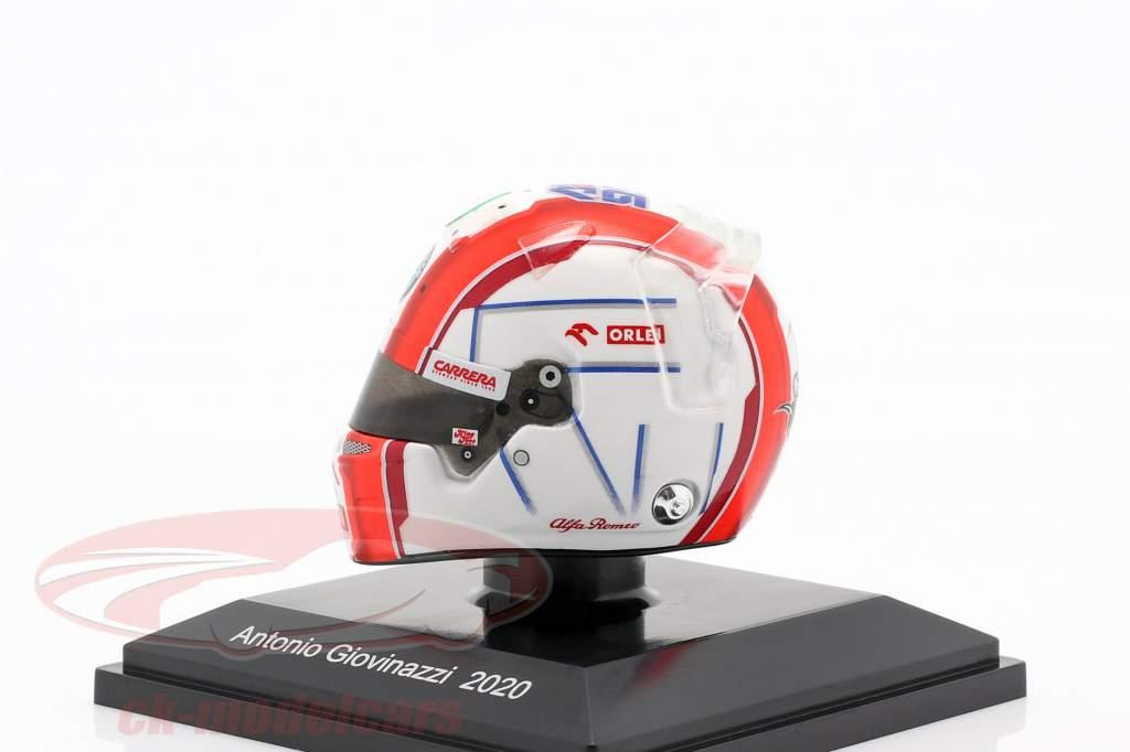 Antonio Giovinazzi #99 Alfa Romeo Racing Orlen formel 1 2020 hjelm 1:8 Spark