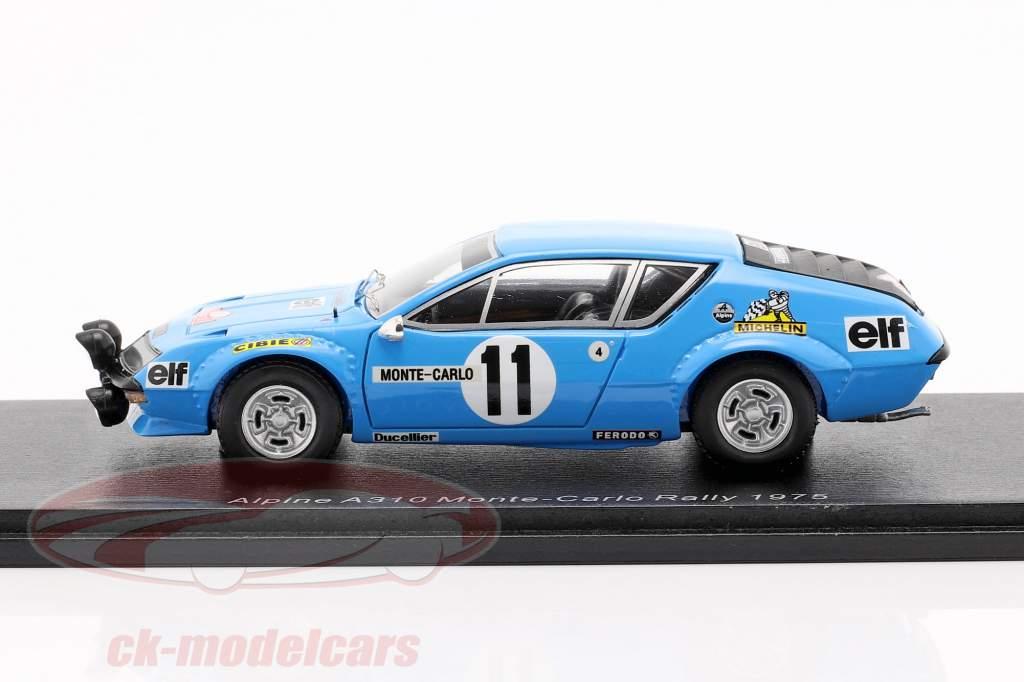 Renault Alpine A310 #11 Rallye Monte Carlo 1975 Warmbold, Davenport 1:43 Spark