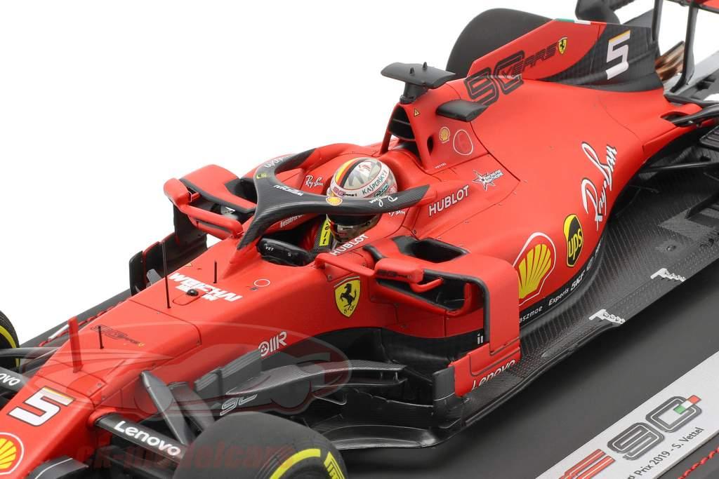 S. Vettel Ferrari SF90 #5 Cuarto Belga GP fórmula 1 2019 Con Escaparate 1:18 BBR