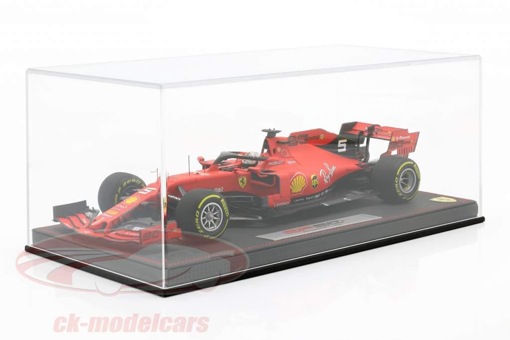 S. Vettel Ferrari SF90 #5 4e Belge GP formule 1 2019 Avec Vitrine 1:18 BBR