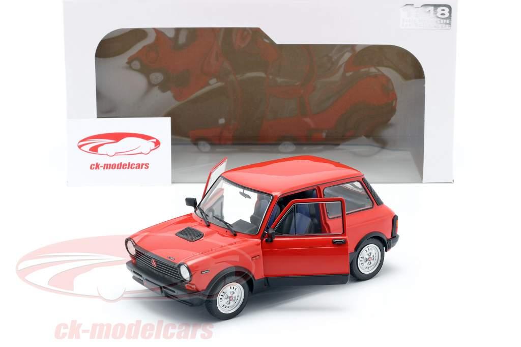 Autobianchi A112 Abarth MK5 1980 vermelho 1:18 Solido