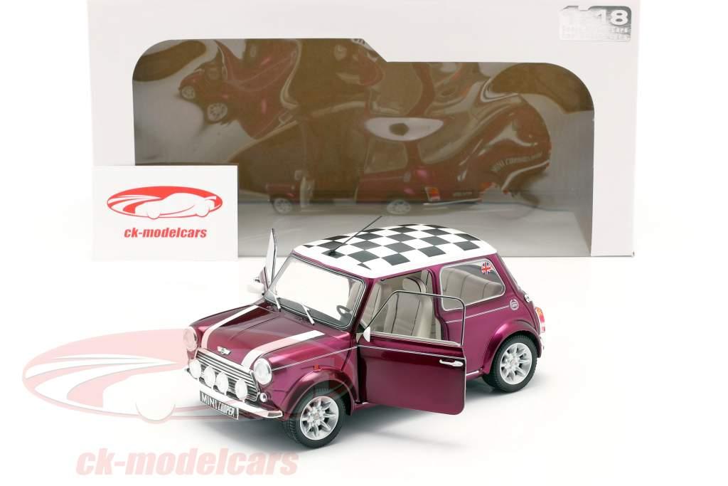Mini Cooper 1.3i Sport Pack year 1997 purple metallic 1:18 Solido