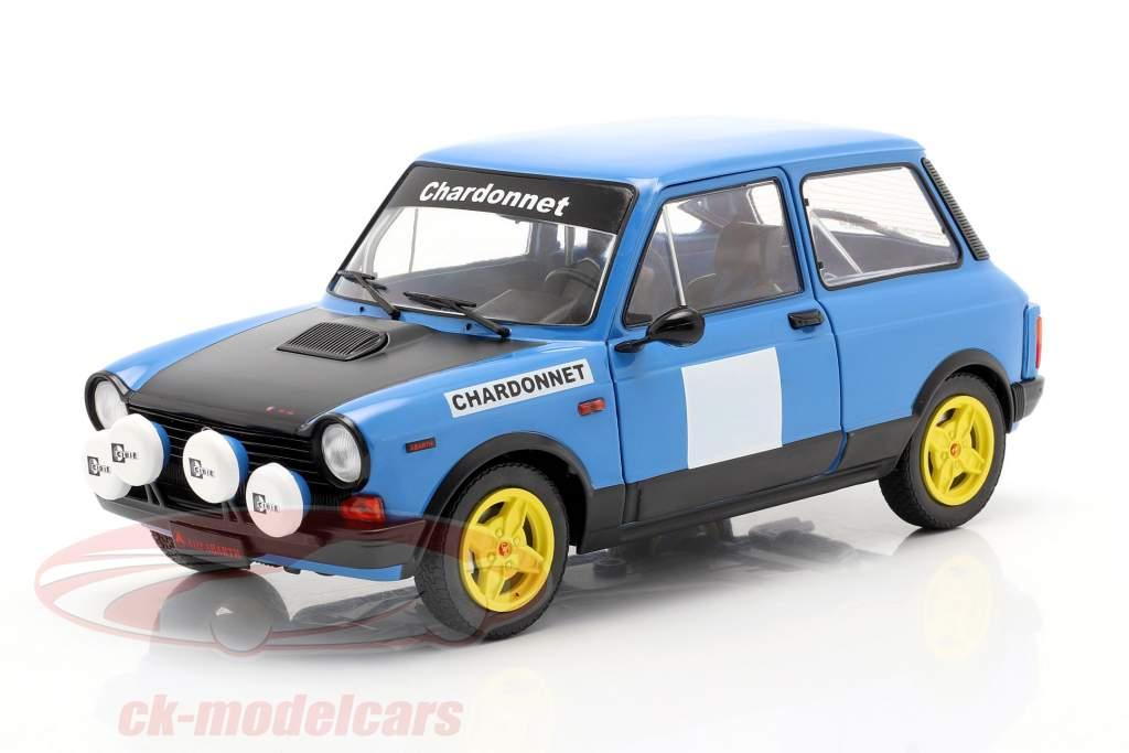 Autobianchi A112 Abarth MK5 Chardonnet 1980 blå / sort 1:18 Solido