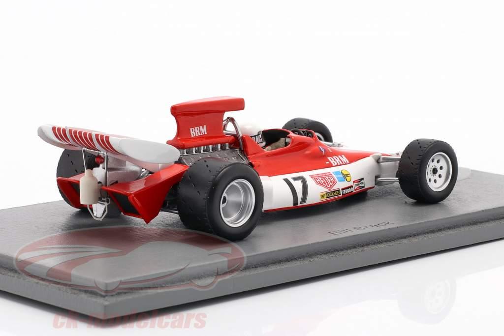 Bill Brack BRM P180 #17 canadese GP formula 1 1972 1:43 Spark