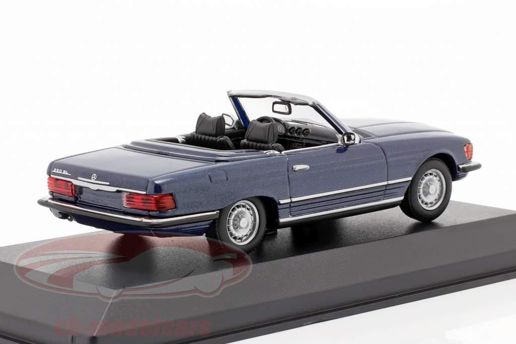 Mercedes-Benz 350 SL (R107) Año de construcción 1974 azul metálico 1:43 Minichamps