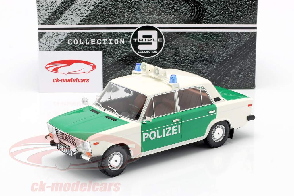 Lada 2106 police FRG year 1976 white / green 1:18 Triple9