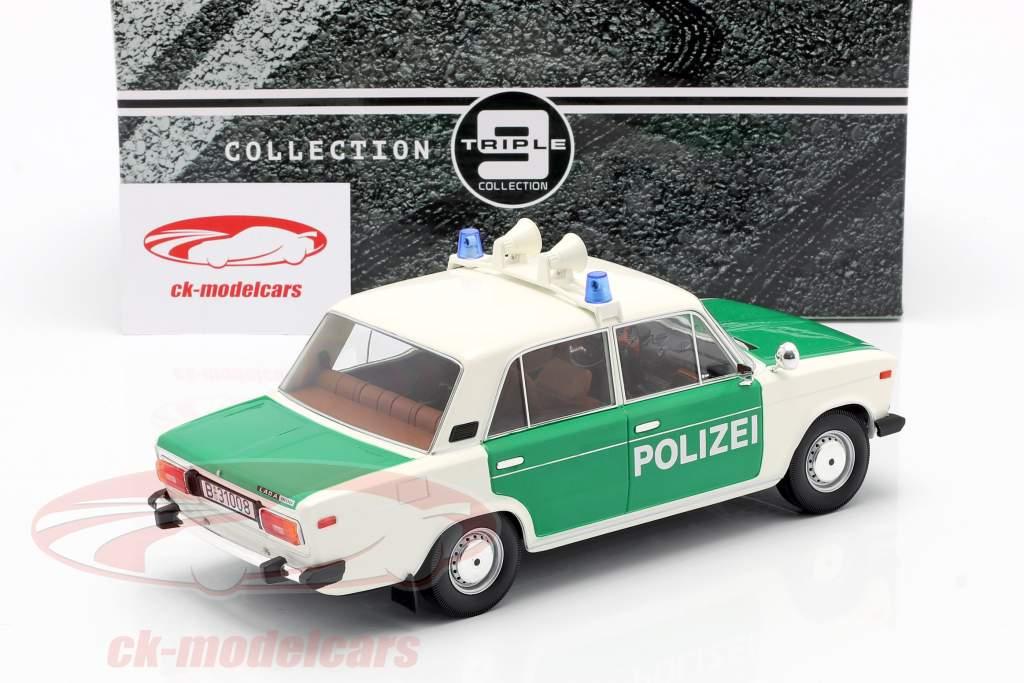 Lada 2106 polícia FRG Ano de construção 1976 Branco / verde 1:18 Triple9