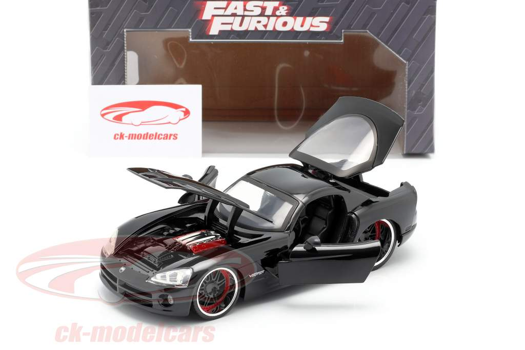 Letty's Dodge Viper SRT 10 Movie Fast and Furious 7 (2015) black 1:24 Jada Toys
