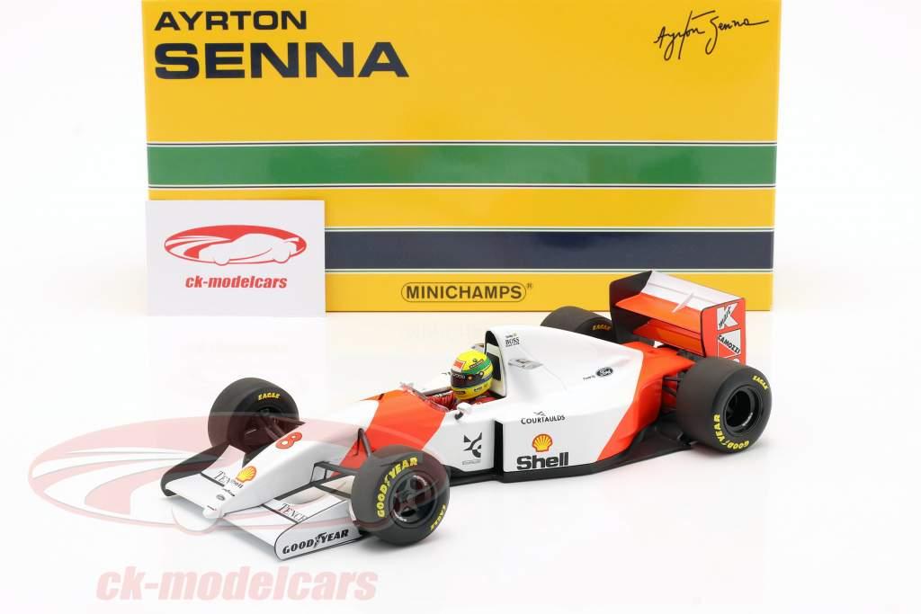 Ayrton Senna McLaren MP4/8 #8 Vinder Japan GP formel 1 1993 1:18 Minichamps