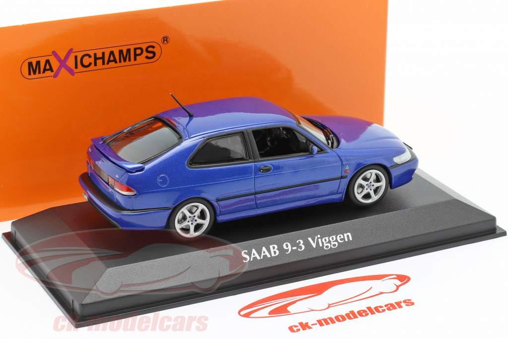 Saab 9-3 Viggen Byggeår 1999 blå 1:43 Minichamps