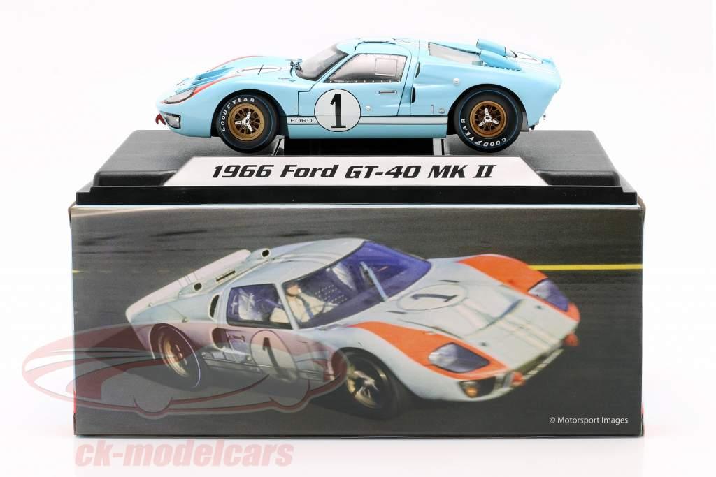 Ford GT40 MK II #1 segundo 24h LeMans 1966 Miles, Hulme 1:18 ShelbyCollectibles