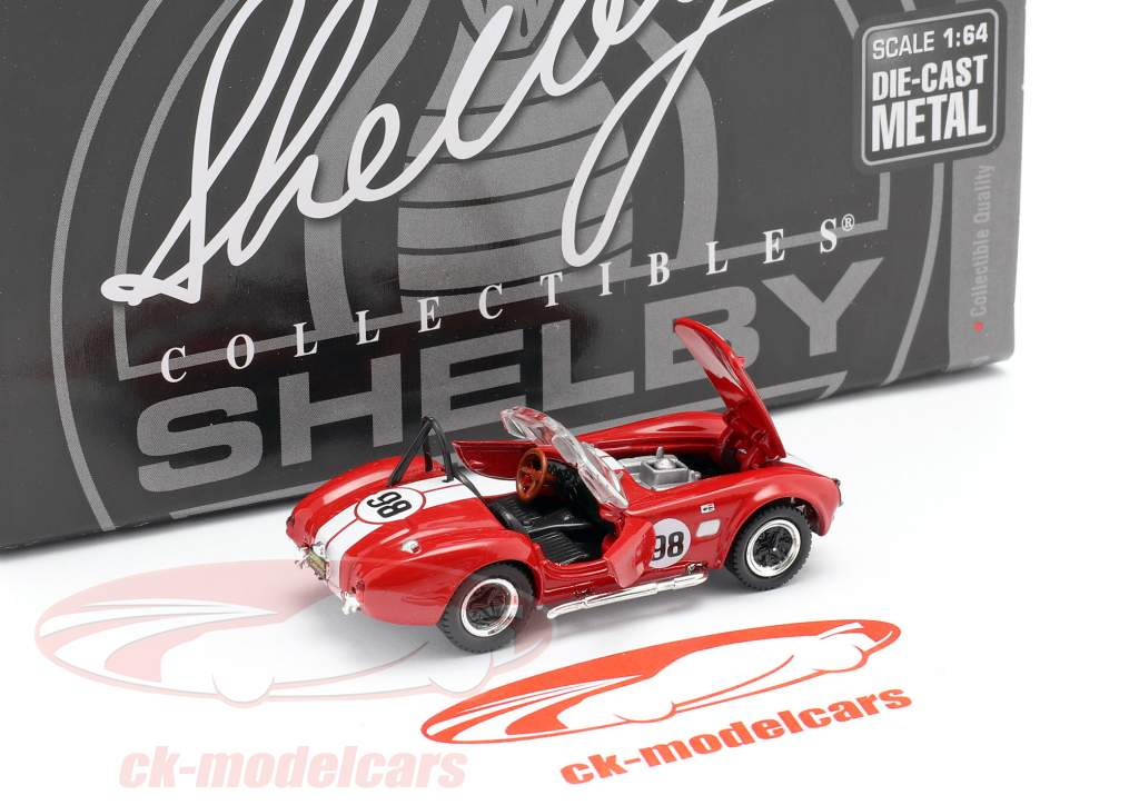 Shelby Cobra 427 S/C #98 Racing version red / white 1:64 ShelbyCollectibles