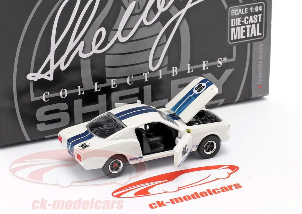Shelby GT-350R #98B Renn-Version 1965 weiß / blau 1:64 ShelbyCollectibles