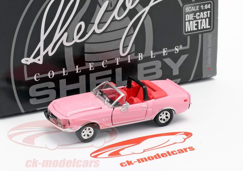 Shelby GT500KR Converteerbaar Bouwjaar 1968 roze 1:64 ShelbyCollectibles