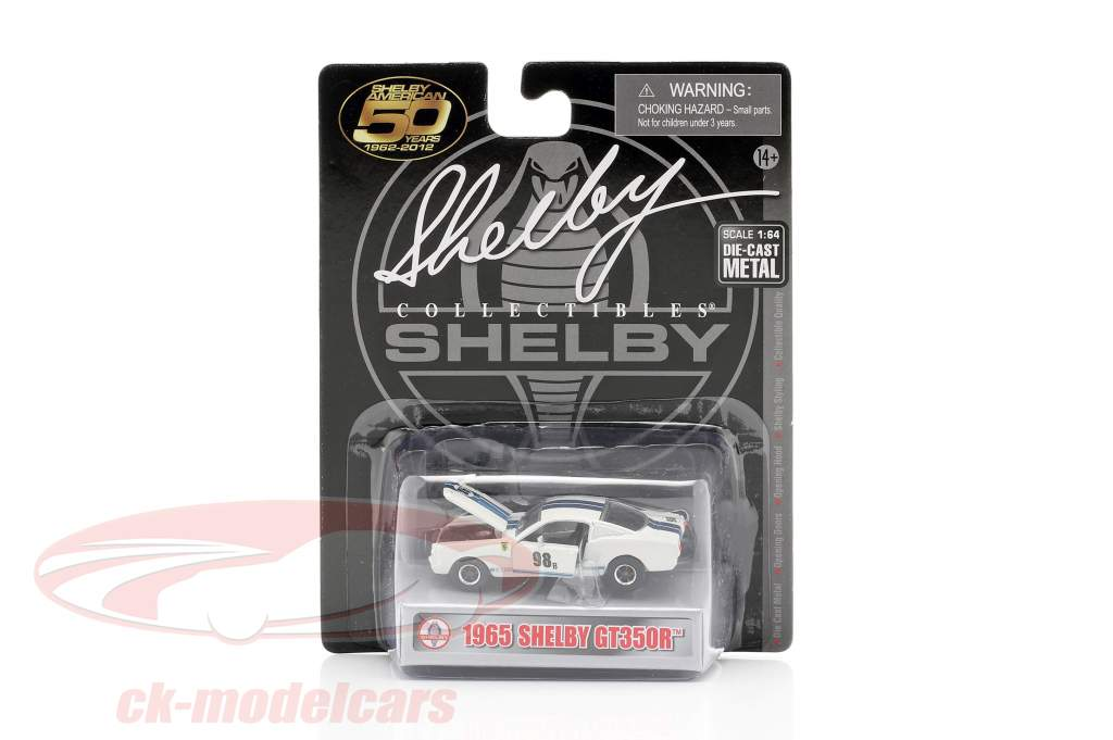 Shelby GT-350R #98B Racing version 1965 hvid / blå 1:64 ShelbyCollectibles