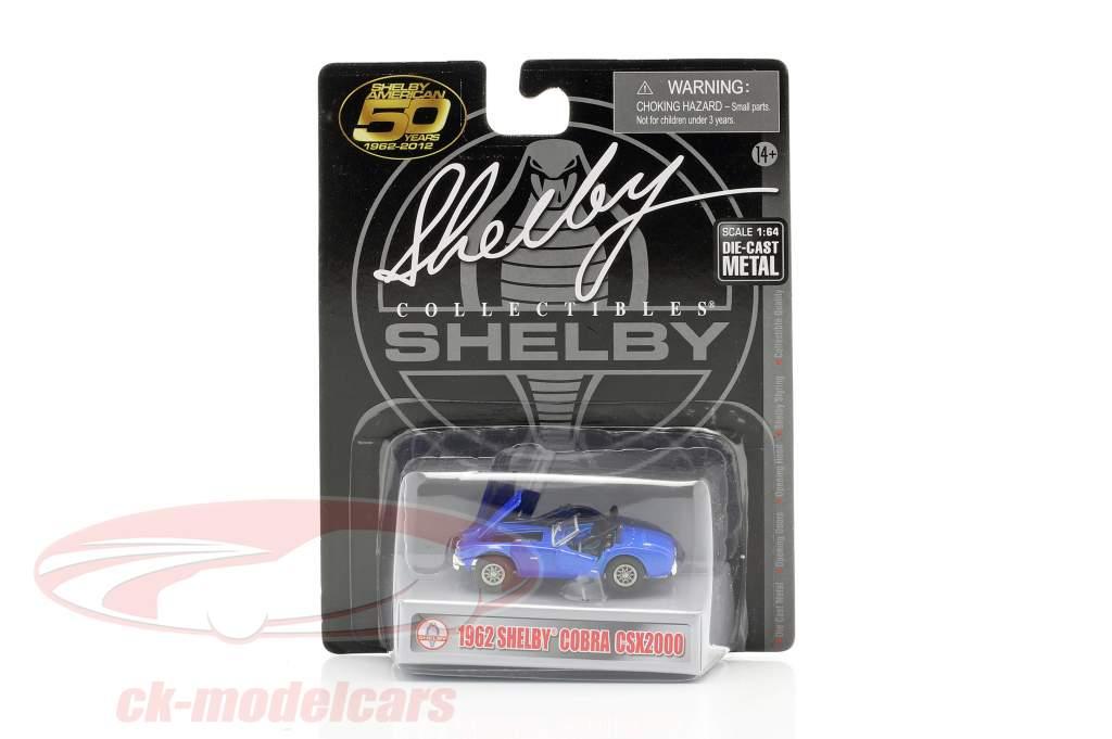 Shelby Cobra CSX2000 Ano de construção 1962 azul 1:64 ShelbyCollectibles