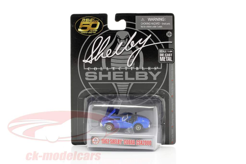 Shelby Cobra CSX2000 Bouwjaar 1962 blauw 1:64 ShelbyCollectibles