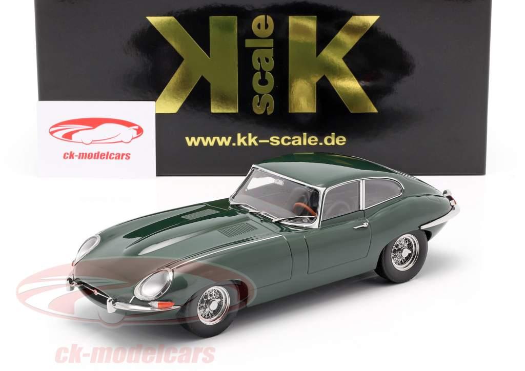 Jaguar E-Type Coupe Series 1 LHD year 1961 dark green 1:18 KK-Scale
